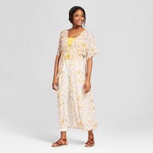 Xhilaration Boho Tie Front Duster Kimono M/L